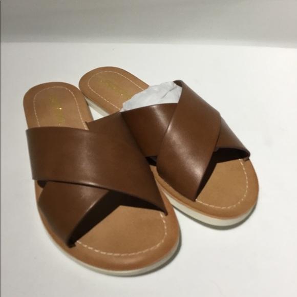 32a671c95c52 Slip on Sandals. NWT. Soda
